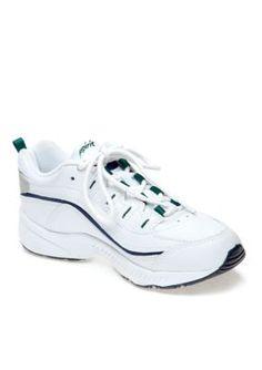 Easy Spirit White Multi Leather Romy Walking Shoe - Extended Sizes Available