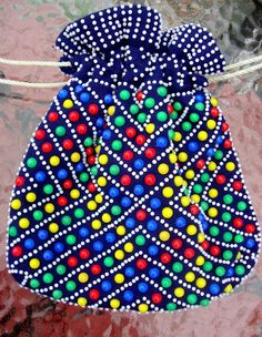 Vintage 60s/70s Emson Beaded Bag Pouch Purse by CherryBerryFashion, $30.00