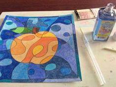 Jablko, hruška – čáry a barvy Art Education, Techno, Coasters, Classroom, Art Rooms, Drawings, Art Education Resources, Class Room, Coaster
