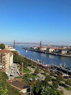 Vista del puente colgante portugalete