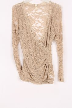 Anna Top in Natural Lace