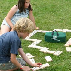 Wooden Giant Garden Dominoes | When I Was a Kid