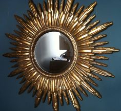 antique gold sunburst mirror by the forest & co | notonthehighstreet.com
