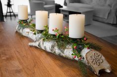 A friend in Germany had a candle holder made out of a birch log. I always thought it was so beautiful...