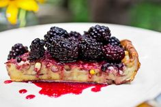 NYT Cooking: Puffy Corn Pancake With Blackberry Sauce