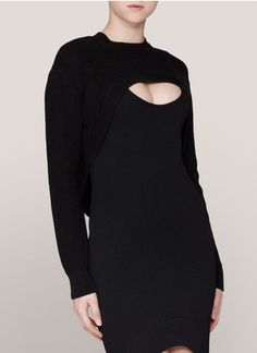 Nice. Note that the sweater and dress are separate...    Givenchy - Cutout cotton-knit sweater & Cotton-knit dress