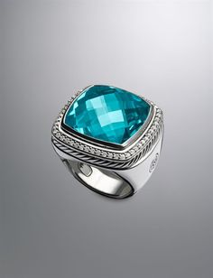 David Yurman | Women | Rings: Albion Ring, Blue Topaz, 20mm