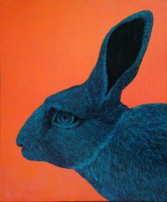 RABBIT by DIREN LEE acrylics on canvas