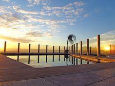 recinzione piscina con illuminazione a led