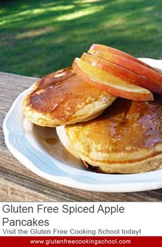 Gluten Free Spiced Apple Pancakes Recipe - The spices and apples in this recipe make it an extra special breakfast that is perfect for fall. It's also healthier, since the butter is replaced with apple sauce. We really enjoy it!