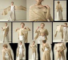 enrHedando: Como hacer y ponerse Vestidos Multiusos Patrones ...