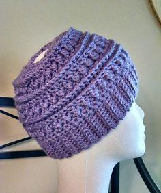 Katniss Messy Bun Hat by KimbersCrochetShop on Etsy Messy Bun 83ef239f2c2
