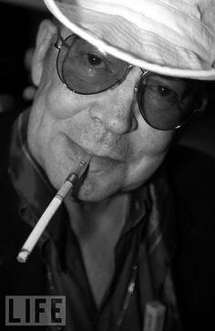 Hunter S. Thompson was an American journalist and author who is credited as the creator of Gonzo journalism, a style of reporting where reporters involve themselves in the action to such a degree that they become central figures of their stories. Hunter S. Thompson, Fear And Loathing, Interesting Faces, Rare Photos, Journalism, Good People, Film Festival, Famous People, Actors & Actresses