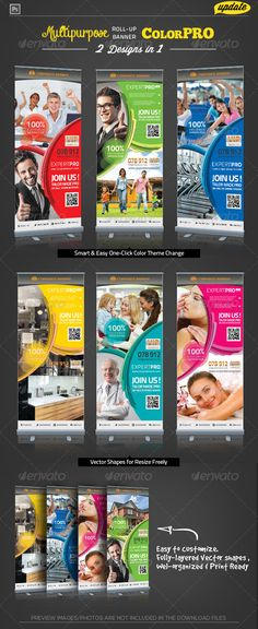 Buy Corporate Roll-up Banner - Expert Pro by katzeline on GraphicRiver. [ Corporate Roll-up Banner – Expert Pro] in + bleed. CMYK Print Ready Easy to customize and Multi. Signage Design, Banner Design, Rollup Design, Pop Up Banner, Facebook Timeline Covers, Banner Template, Flyer Template, Digital Signage, Print Templates