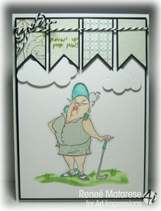 Goldie Golfer set New Ai People from Art Impressions