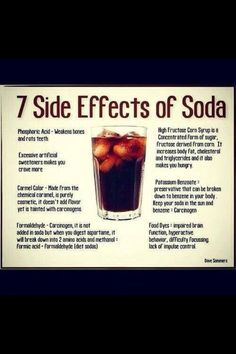 Part of the reason I don't drink soda anymore. All of this, plus the caffeine & sugars can cause bladder infections, if you drink too much soda.