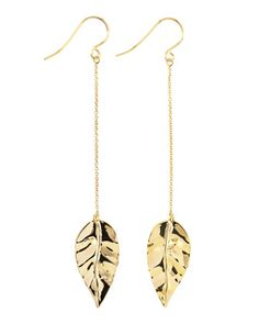 Gorjana - Leaf-Chain Drop Earrings - Last Call