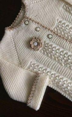 Baby Cardigan Knitting Pattern Free, Kids Knitting Patterns, Crochet Baby Dress Pattern, Baby Sweater Patterns, Knit Baby Dress, Knitted Baby Cardigan, Knit Baby Sweaters, Baby Dress Patterns, Baby Hats Knitting