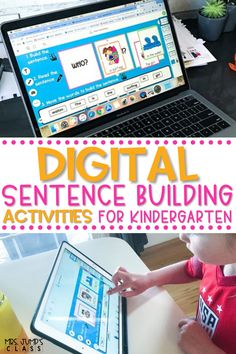 In need of some new literacy centers for kindergarten? These digital sentence building activities can be used in kindergarten and first grade classrooms to practice early reading skills.