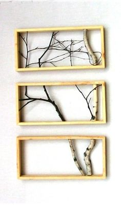 trees indoors - parents at bottom, middle one for kids...could add more frames to sides to branch out