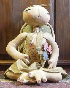 Tootsie Turtle, a Pearson's Simply Primitives doll for $26.99 at the Cottage Gift Shop - Elmira, New York