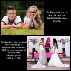 Wilt u een #kinderfotoshoot op locatie (liefst lekker buiten) ,of een #trouwreportage boeken ? Vraag informatie aan via info@campuur.nl