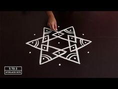 Design Discover Easy And Beautiful Rangoli Design Using 5 to 3 Dots