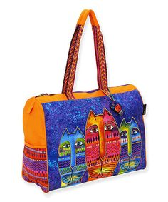 Take a look at this Purple & Orange Three Amigos Weekender by Laurel Burch on #zulily today!