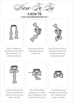 How to tie a bow tie...