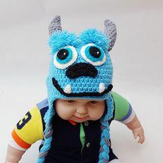 Monstruo-del-bebé-del-sombrero-recién-nacido-fotografía-atrezzo-niño-de-punto-de-ganchillo-sombrero-gorros.jpg (750×750)