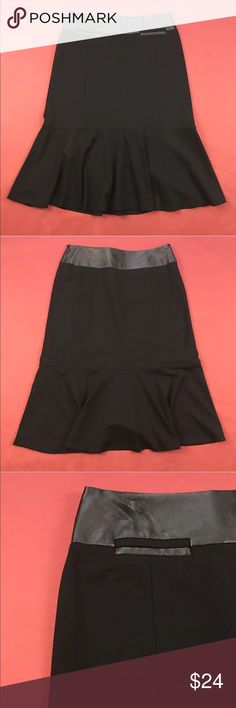 """Black Skirt 🌸 Ruby Rd. Black Skirt   Women's Size: 8P  57% Rayon 39% Nylon 4% Spandex  Shows some marks on the front waist band. Please, view pictures. Measurements lying flat: Waist 16"""", Hips 21"""", Length 29"""".  Please, review pictures. You will get the item shown. Smoke & pet free home. Ruby Rd Skirts"""