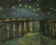 Vincent van Gogh, Notte stellata sul Rodano (1888).