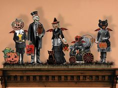 Halloween Boogie Family Paper Doll Printable Victorian Goolies Puppet Printable…