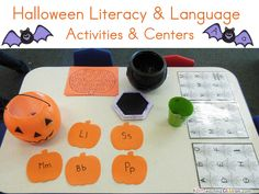 Halloween Literacy & Language Activities & Center