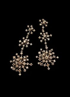 H.Stern Snowflakes earrings in 18K Noble Gold with cognac diamonds #HStern