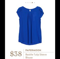 Papermoon Bastille Tulip Sleeve Blouse I would  love this shirt in this color and black