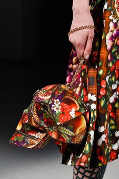 Manish Arora at Paris Fall 2015 (fruited scull purse Details)
