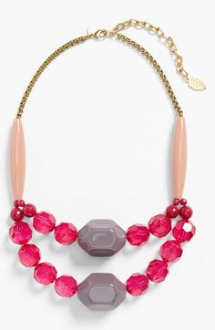 Pink is always a good idea! Love this double strand statement necklace.
