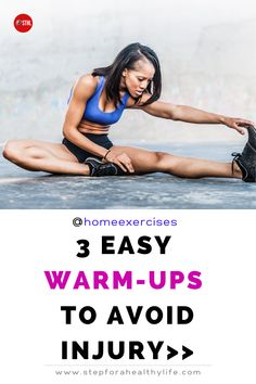 To stay safe and get the most out of your workout and avoid injuries you must always include a pre-workout warm-up before you begin and then finish with a cool down to get your body back into gear. You can do it in the morning before your full body workout or your daily running.Check this videos out with exercises of 5 or 10 minutes really easy to do. Warm ups are critical to a better performance and avoid mayor injuries.Stretching routine,running for beginners,cool down routine,warm up…