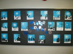 Terri's Teaching Treasures: Winter Wonderland Art. Working with monochromatic values.