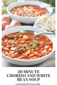 chorizo and white bean soup