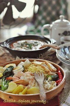 Spices Journey: MEE REBUS UTARA Versi BondaKu Mee Rebus, Indonesian Food, Noodles, Tacos, Spices, Mexican, Journey, Ethnic Recipes, Macaroni