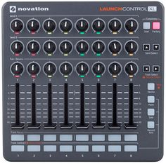 Novation Launch Control XL, USB-Controller for Ableton  Live, 24 Rotary Knobs LED-Lighting, 8 Fader 60 mm, 24  assignable Buttons, 2 Template switch Buttons, create own  Controller-Mappings, USB Bus-Powered, for WIN 7/8, MAC OSX  10.8 or higher and...