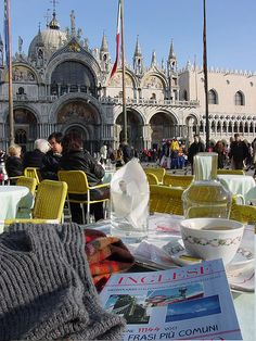 Cafe In Piazza San Marco, Venice, Italy