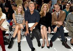 Pin for Later: Les Célébrités Se Bousculent à la Fashion Week de Paris Elena Perminova, Mario Testino, Lauren Santo Domingo, et Derek Blasberg Au défilé Dior.