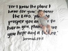 Beautiful @modernburlap scripture swaddle blanket. Love these meaningful baby items!