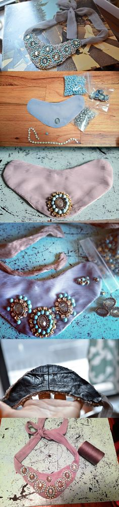 10 Useful DIY Fashion Ideas, DIY Mint Blue Sunburst Necklace