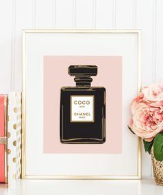 Coco Chanel NOIR Perfume Bottle Print Vintage Chanel wall print gallery office bedroom wall print by designsbymariainc on Etsy https://www.etsy.com/listing/113504485/coco-chanel-noir-perfume-bottle-print