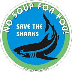 Shark Sticker SAVE THE SHARKS