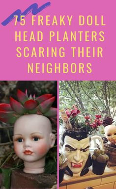 75 people who turned old dolls into planters and terrified their neighbors Gold Makeup Looks, Head Planters, Mannequin Heads, Old Dolls, Doll Head, Diy Doll, Growing Plants, Diy Art, Baby Dolls